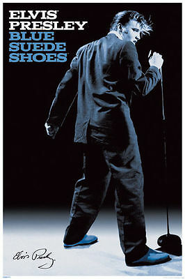 Elvis Presley Blue Suede Shoes 24 x 36 Inches Music Poster