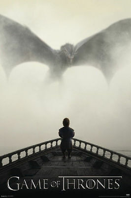"""Game Of Thrones Lion and Dragon 24 x 36"""" HBO TV Poster"""