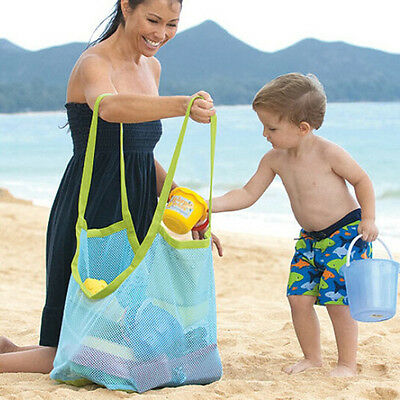 Extra Large Family Mesh Kids Sea Beach Bag Toys Towels Things Storage Sand Away