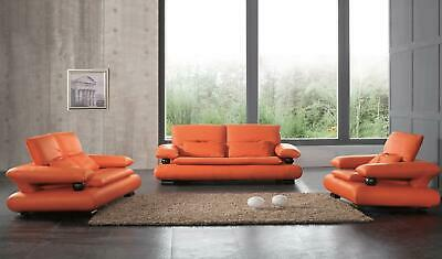 Chic Modern 410 Italian Leather Sofa Living Room Set Contemporary