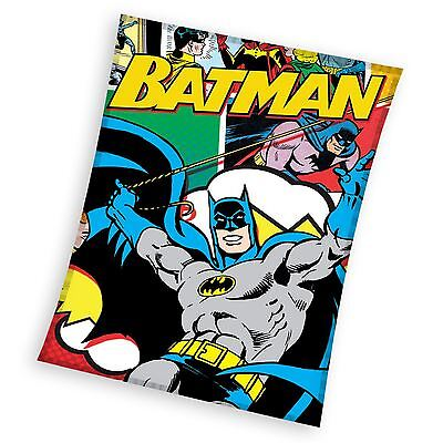 Batman Fleece Blanket Comic Style Kids Bedroom New Official Free P+P