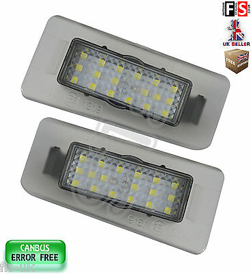 2 X Kia Number Plate Lights Cee'd Cerato Led White 18Smd Canbus Error Free