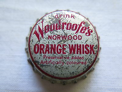 Crown Seal Bottle Cap Woodroofes Orange Whisk Norwood South Australia Used