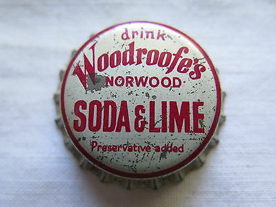 Crown Seal Bottle Cap Woodroofes Soda & Lime Norwood South Australia Used