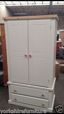 New Hand Made Charles 2 Drawer Wardrobe No Flat Packs Ready Assembled Limited