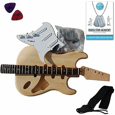 Stretton Payne Electric Guitar Stratocaster - DIY Kit - Build Your Own Guitar