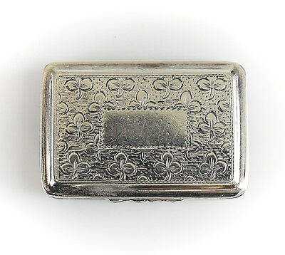Thomas & William Simpson George III Birmingham Sterling Silver Vinaigrette Box