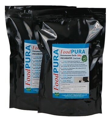 Food PURA® 1KG Codex FOOD Grade Diatomaceous Earth DE Human Fresh Water Sourced