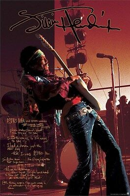 JIMI HENDRIX ~ ASTRO MAN LIVE 24x36 MUSIC POSTER Guitar NEW/ROLLED!