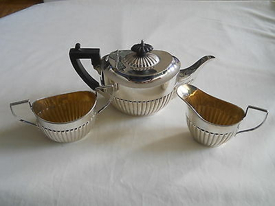 Birks Sterling 3 Pc Tea Service Set