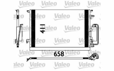 VALEO Condenser, air conditioning for OPEL VECTRA ZAFIRA SAAB 9-3 OPEL 817647