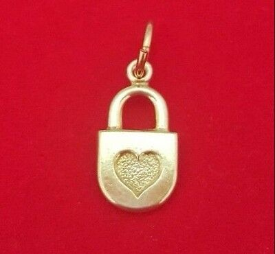 9ct Yellow Gold Padlock Charm