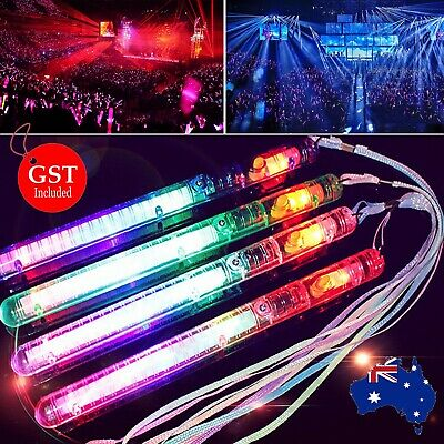 1X LED Light Flashing Wand Stick Colour Changing Glowsticks Party Glow in dark