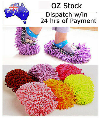 1 pc (not 1 pair) Microfibre Mop Slipper Floor Polisher Cleaner Foot Shoes Cover