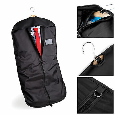 Black Suit Carry Cover Garment Travel Storage Protector Bag Holder Carrier