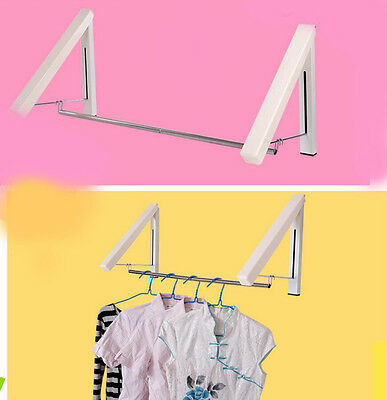 Wall Mounted Space Saver Double Clothes Drying Hanger Foldable Laundry Rack