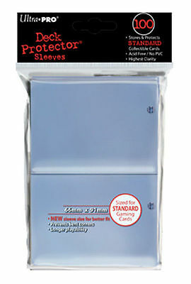 100ct Clear Deck Protector Card Sleeves Pokemon MTG Sports + Ultra Pro