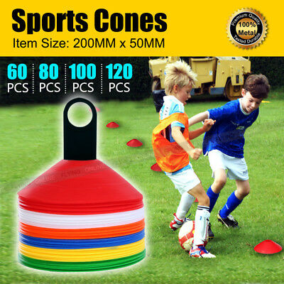 Sports Disc Markers Training Cones Football Soccer Rugby Afl Touch Group Fitness