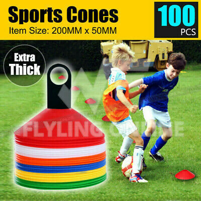100 Disc Markers Training Cones Football Soccer Rugby Afl Touch Group Fitness