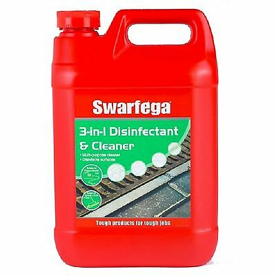 Swarfega 3 In 1 Disinfectant And Cleaner 5 Ltr