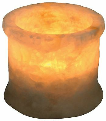 Egyptian Soft white alabaster stone hand carved candle holder votive