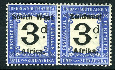 SOUTH WEST AFRICA-1926 3d Black & Blue Postage Due Sg D26 LIGHTLY MOUNTED MINT