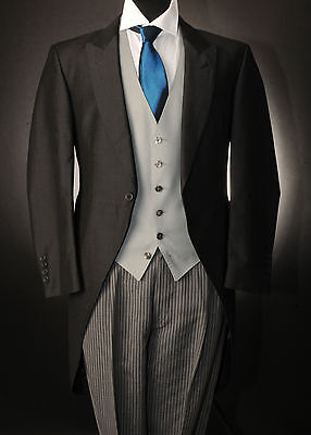 Mj-130 Mens & Boys 2 Piece Slate Morning Tails Suit Wedding/ascot/formal Sale