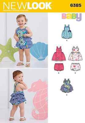 Simplicity New Look Sewing Pattern Baby 6385