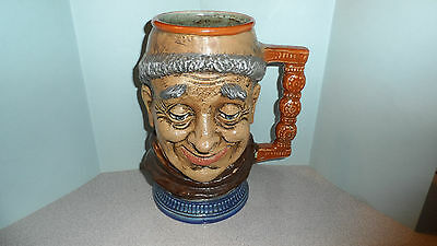 "APPROX 8"" TALL SIGNED CAPODIMONTE ITALIAN BEER MUG / TOBY CHARACTER MUG 60s-70s"
