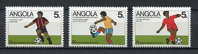 s6168)ANGOLA 1990 MNH* World Cup Football 1986 -Coppa del Mondo Calcio 3v.