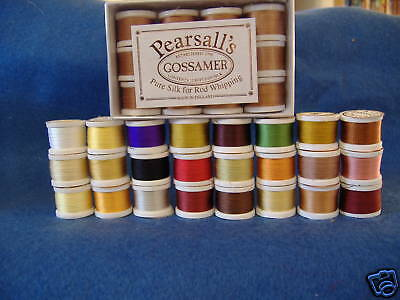 PEARSALL'S GOSSAMER SILK THREAD- 5 spools - your choice of colors