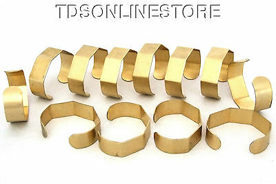 5 Sided Brass Bracelet Cuff Blanks For Jewelry Making 3/4 inch 12 Pack