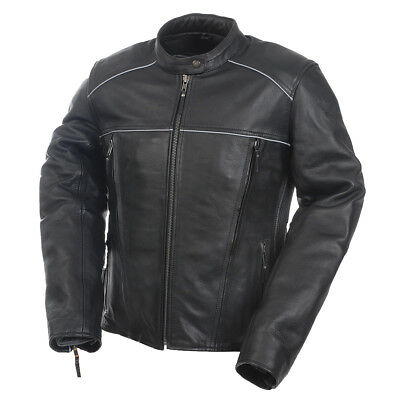 Women's Mossi Journey Leather Jacket Black Ladies Motorcycle Riding Coat