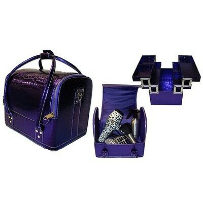 Hair Tools Professional Hairdressers/Beauty Kit Bag/Tool Case - Zebra & Purple