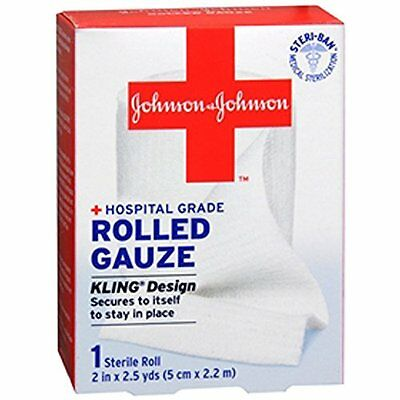 """Johnson & Johnson Red Cross First Aid Rolled Gauze 2"""" X 2.5 - Each"""