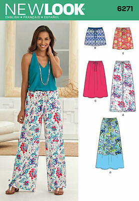 Simplicity New Look Sewing Pattern Skirts Pants 6271