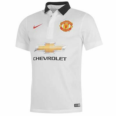 Boys' Nike Manchester United FC 2014-15 Away Jersey, 611041-106, White Black Red