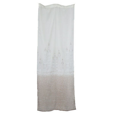 100x250cm Castle Voile Curtain Drape Valance for Living Room Bedroom Coffee