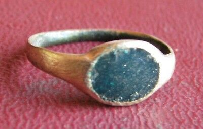 Ancient Artifact   17th Century Bronze Finger Ring SZ: 2 US 13.25mm 14472 DR