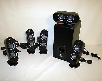 Logitech X530 5.1Ch computer laptop mp3 Speaker System With Subwoofer X-530