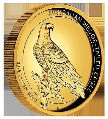 2016 $100 AUD Wedge-Tailed Eagle 1oz Gold Proof High Relief Coin Perth Mint