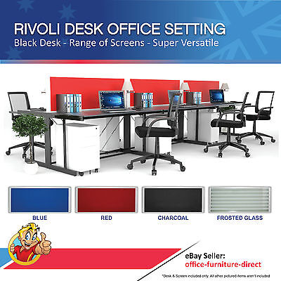 Rivoli Desk with Desk Screen, Office Workstation, Call Centre, Freedom Desk,