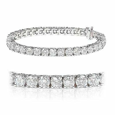 5.00Ct Claw Set Round Diamond Tennis Bracelet Crafted in White Gold