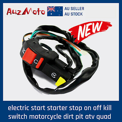 Electric Start Starter Stop On Off Kill Switch Motorcycle Dirt Pit ATV Quad Bike