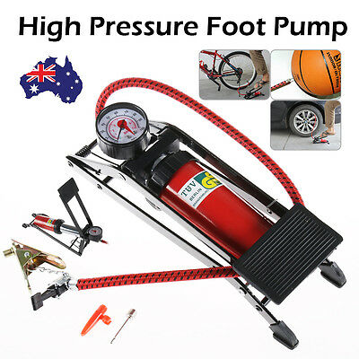 High Pressure Foot Pump Ball Bicycle Motorbike Car Type Tire Inflater Air Pump