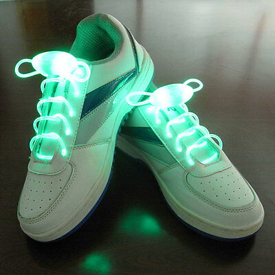 1 Paire Lacets Lumineux A LED ColorLight Chaussure Collier Bracelet Neuf - VERT