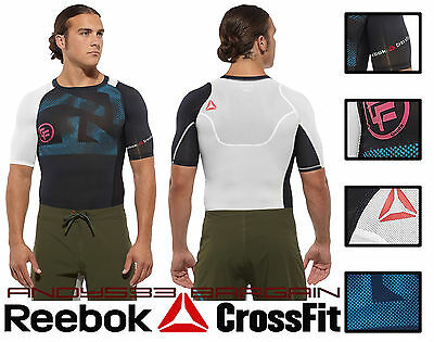 compression shirt short sleeve men's CrossFit® Lightweight Slim Top Reebok WOD S
