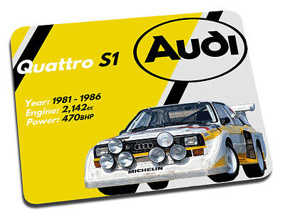 Audi Quattro Rally Car Mouse Mat
