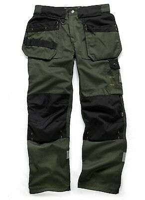 SCRUFFS Trade Mens Work Trousers Forest Green Combat Cargo Site Multi-Pocket