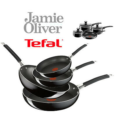 Jamie Oliver by Tefal Hard Enamel Saucepan Frying Pan Pot Glass Lid